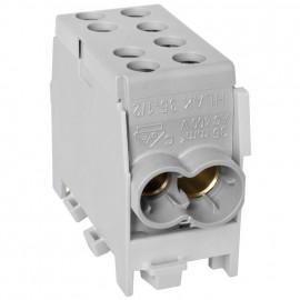 Hauptleitungs Abzweigklemme, 1-polig, 2 Eingänge 35 mm² 2 Ausgänge 25 mm² Grau