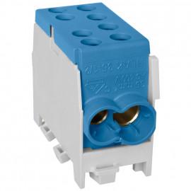 Hauptleitungs Abzweigklemme, 1-polig, 2 Eingänge 35 mm² 2 Ausgänge 25 mm² Blau