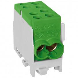 Hauptleitungs Abzweigklemme, 1-polig, 2 Eingänge 35 mm² 2 Ausgänge 25 mm² grün