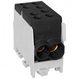Hauptleitungs Abzweigklemme, 1-polig, 2 Eingänge 35 mm² 2 Ausgänge 25 mm² schwarz