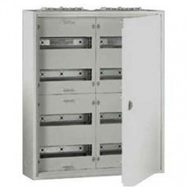 Flachverteiler, 2-Felder / 4 Reihen, Stahlblech weiß IP31 F-Tronic