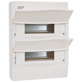Kleinverteiler, 2 x 12 Module, AP Kunststoff weiß - IDE