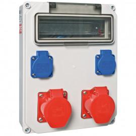 CEE Steckdosenverteilung, ANIF4 bestückt mit: 2 Schutzkontakt-Steckdosen - PCE