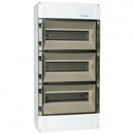 Verteilerkasten, 3 reihig, für 42 Automaten, IP65 Höhe 600 mm, Tiefe 142 mm, Breite 300 mm