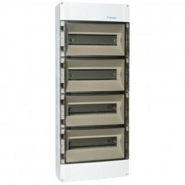 Verteilerkasten,  4-reihig, für 56 Automaten, IP65 Höhe 750 mm, Tiefe 142 mm, Breite 300 mm