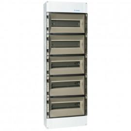 Verteilerkasten,  5-reihig, für 70 Automaten, IP65 Höhe 900 mm, Tiefe 142 mm, Breite 300 mm