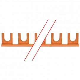 Gabel Phasenschiene, M6, 12 mm², 1-polig, L-Form, für 56 LS-Schalterr - Pollmann