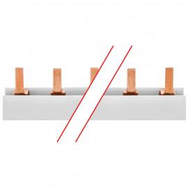 Steg-Phasenschiene, 16 mm², 3-polig, L-Form, für 12 3-pol. oder 36 1-pol. D0-Elemente