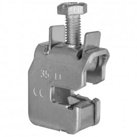 Sammelschienen Klemme, für 12 x 5 mm Flachkupfer für Kabel-Ø 16 mm² - Pollmann