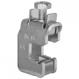Sammelschienen Klemme, für 12 x 10 mm Flachkupfer für Kabel-Ø 70 mm² - Pollmann