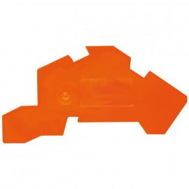 2 Stück Abschlußplatte, orange - Wago Reihenklemmen
