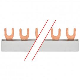 Gabel Phasenschiene, 10 mm², 3-polig, T-Form, für 12 LS-Schalter - Pollmann