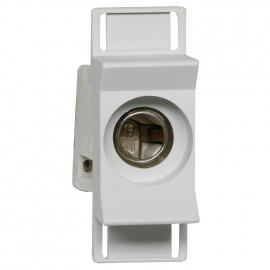 Einbausicherungssockel, 1-polig, ISO Abdeckung, Typ D01 / 16A