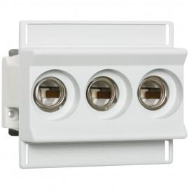 Einbausicherungssockel, 3-polig, ISO Abdeckung, Typ D02 / 63A