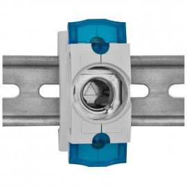 3 St. Einbausicherungssockel 1-polig, Doppelfunktions Klemme bis 35 mm² D02 / 63A