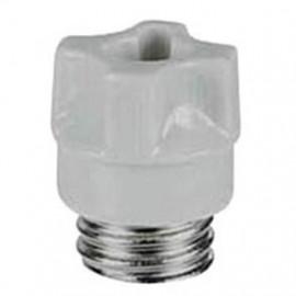 10 Stück Schraubkappe mit Prüfloch, Porzellan, Typ D01 / 16A Sockel E14