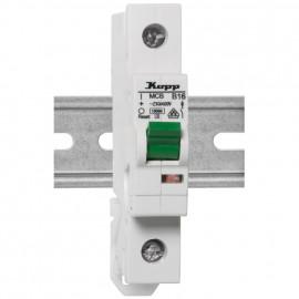LS Leitungsschutzschalter, 1 polig, C Charakteristikr Nennstrom 16A - Kopp