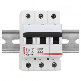 LS Leitungsschutzschalter, 3 polig, B Charakteristik 16A, Legrand LEXIC DX-E