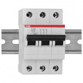 LS Leitungsschutzschalter, 3 polig, 16A, B Charakteristik, Baureihe S 200 S - ABB