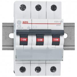 LS Leitungsschutzschalter, 16A, 3 polig, B Charakteristik, Baureihe Elfa - AEG