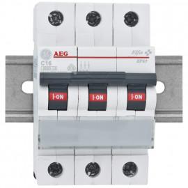 LS Leitungsschutzschalter, 16A, 3 polig, C-Charakteristik, Baureihe Elfa - AEG