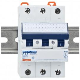 LS Leitungsschutzschalter, 3 polig, C Charakteristik Nennstrom 16A - Gewiss