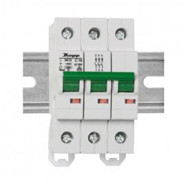LS Leitungsschutzschalter, 3-polig, C Charakteristikr Nennstrom 10A - Kopp