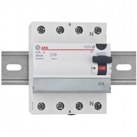 FI / LS Schutzschalter, 4-polig, 40A / 0,03 Baureihe Elfa FI - AEG