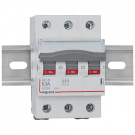 Einbau Kipp A Schalter, DX³, 63A, 3-polig LEGRAND
