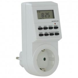 Steckdosen Zeitschaltuhr, digital, 230V / 16A, weiß Tages- und Wochenprogramm