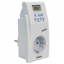 Steckdosen Zeitschaltuhr, ELTIMO 020 S, digital, 230V/16A, weiß, 36 Speicherplätze