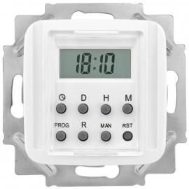 Zeitschaltuhr LCD elektronisch, 230V / 1250-2500W / 600VA, KLEIN SI® reinweiß