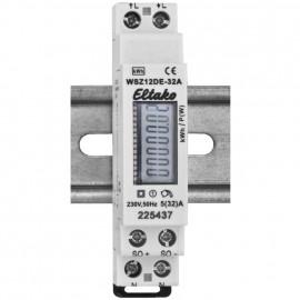 Stromzähler, für Wechselstrom, einphasig, 230V-AC (32A), unbeglaubigt