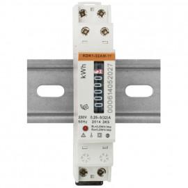Stromzähler, für Wechselstrom, einphasig, 230V-AC/5 (32A), beglaubigt