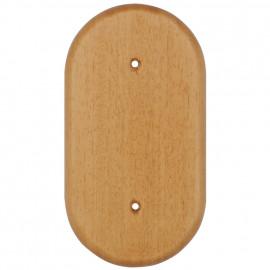 Holz Bodenplatten für Schalter und Steckdosen, 2 fach, eiche hell Atlantis Pozellan weiß
