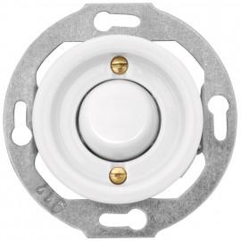 Schaltereinsatz Kombi Kreuz, Unterputz, 10A / 250V, Porzellan weiß, THPG