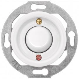 Schaltereinsatz Kontroll / Wechsel, Unterputz, 10A / 250V, Porzellan weiß, Wippe Duroplast