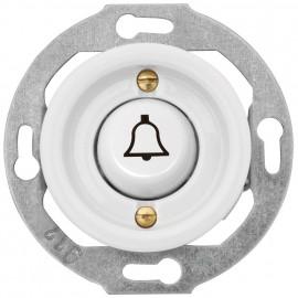 Tastereinsatz Kombi, Unterputz, mit Symbol 'Klingel', 10A / 250V, Porzellan weiß, THPG