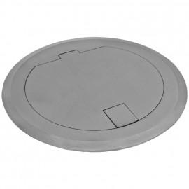 Steckdose Boden Einbau, rund, Edelstahl, IP20, 1 Schutzkontakt Steckdose, Klein