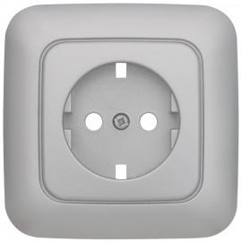 Vollplatte für Unterputz Schalterprogramme Steckdose, KLEIN SI® silber matt