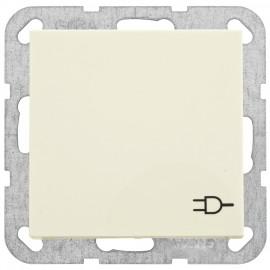 Steckdose mit Klappdeckel Kombi, SYSTEM 55 cremeweiß glänzend Gira