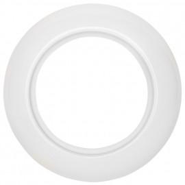 Abdeckrahmen, 1 fach, Porzellan weiß, THPG
