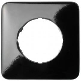 Abdeckrahmen, 1 fach, eckig, Bakelit schwarz, THPG
