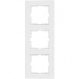 Abdeckrahmen, 3 fach, Kunststoff, KOPP OBJEKT HK 07 reinweiß (RAL 9010)
