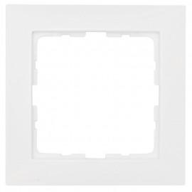 Steckdoses Abdeckrahmen, 1-fach, SERIE S.1 polarweiß glänzend