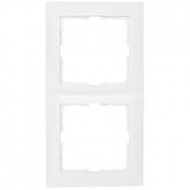 Steckdoses Abdeckrahmen, 2-fach, SERIE S.1 polarweiß glänzend