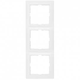 Steckdoses Abdeckrahmen, 3 fach, SERIE S.1 polarweiß glänzend