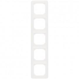 Abdeckrahmen, 5 fach, System 1 M, polarweiß, glänzend, Merten