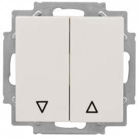 Jalousie Taster Kombi Schalter, KLEIN® K50 reinweiß Wippenmaß 50 x 50 mm