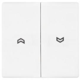 Schaltereinsatz Wippe für Jalousie Schalter, SERIE AS alpinweiß glänzend